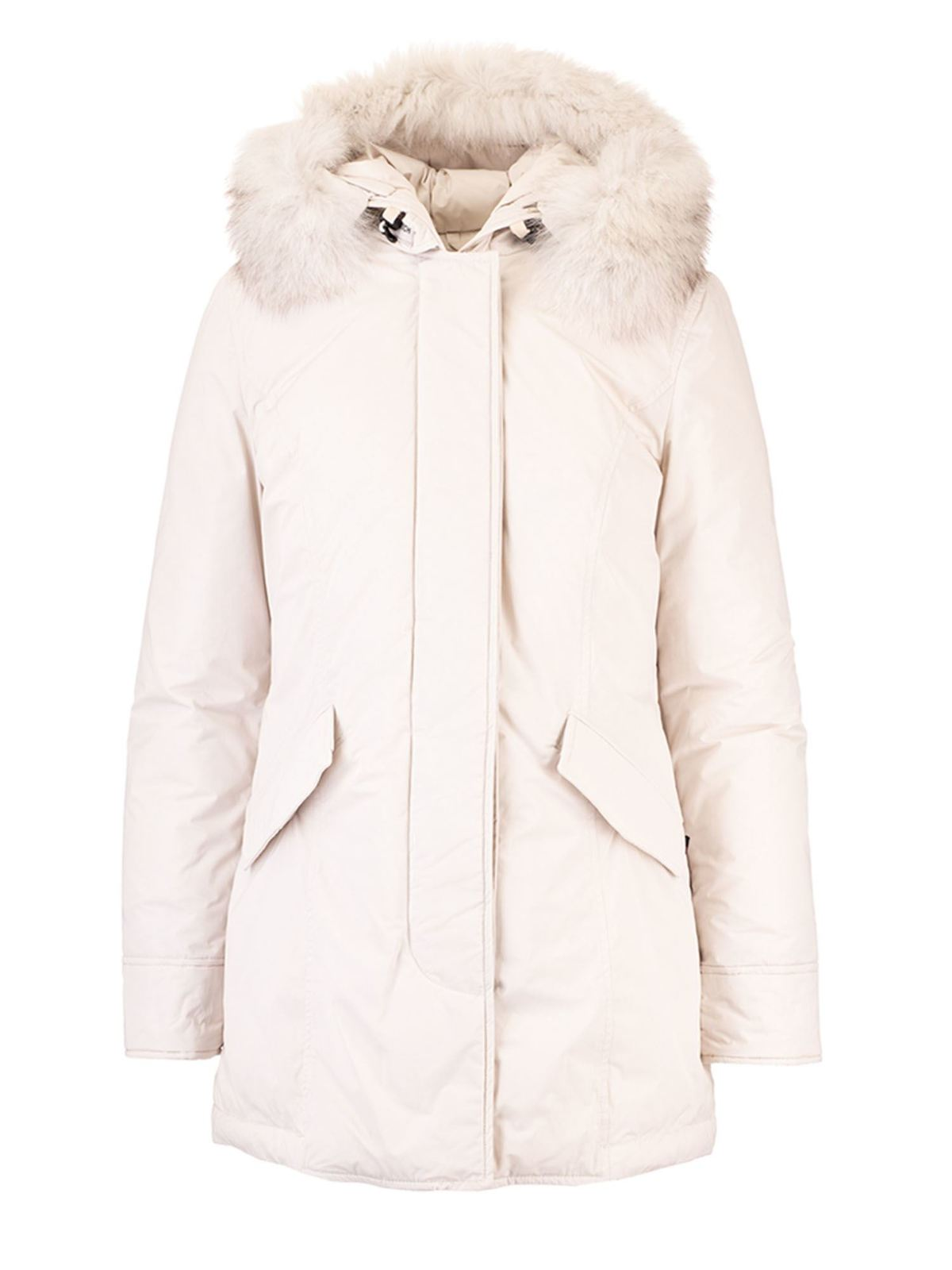 Woolrich PADDED LUXURY ARCTIC PARKA IN WHITE