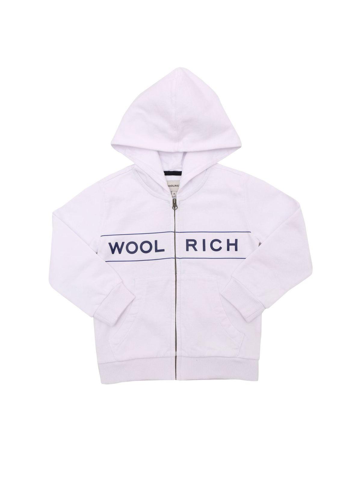 Woolrich LUXE SWEATSHIRT IN WHITE