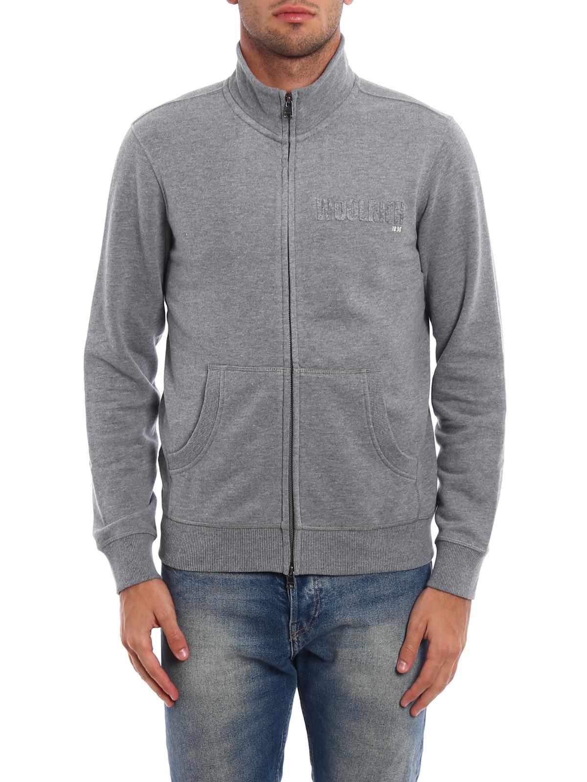 Full zip cotton sweatshirt by Woolrich - Sweatshirts & Sweaters ...