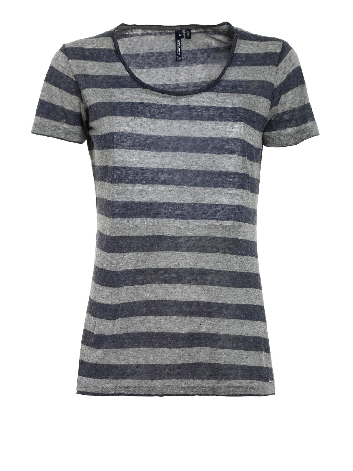 Linen And Silk T Shirt By Woolrich T Shirts Shop