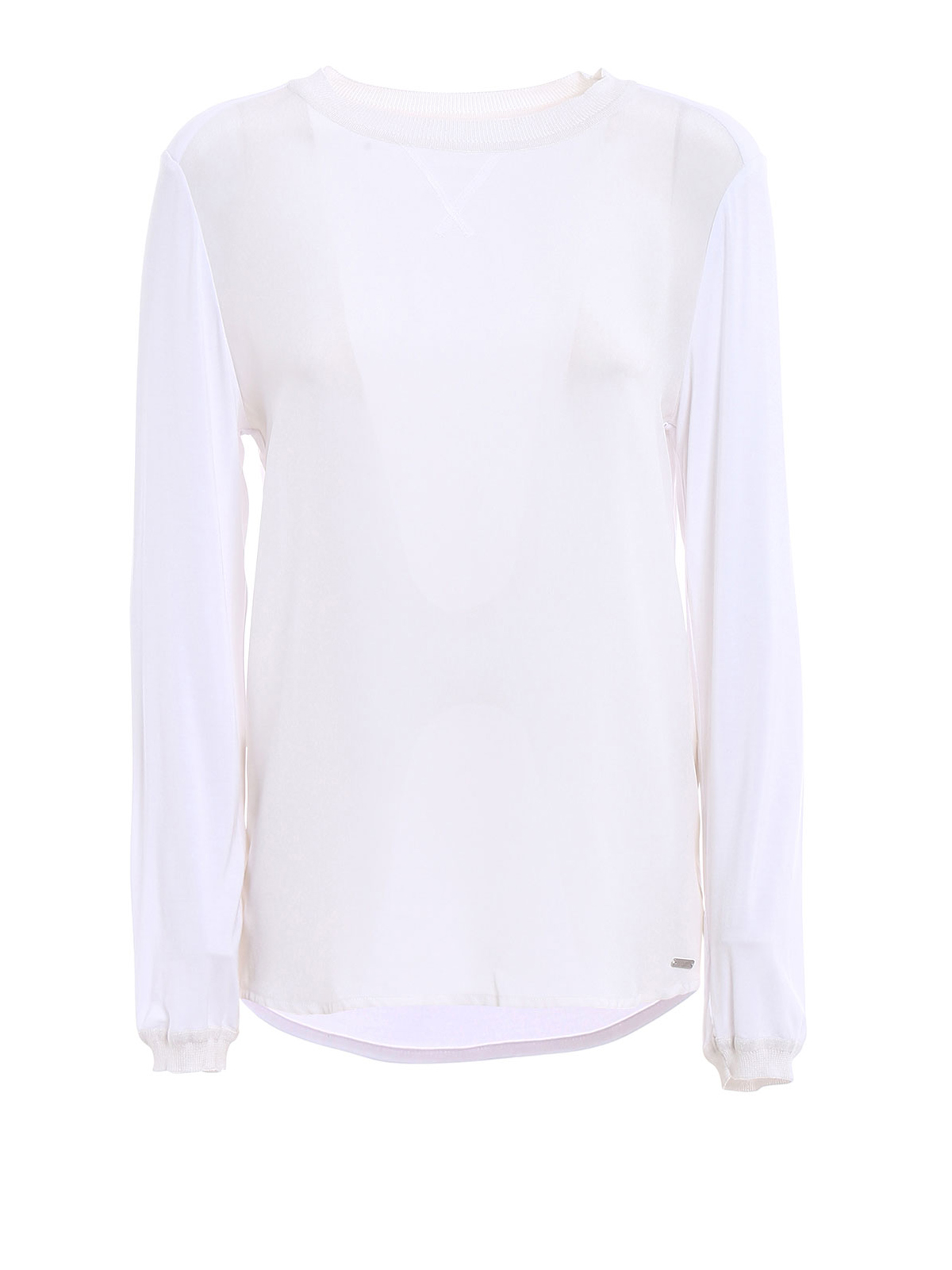 Silk panelled white t shirt by woolrich t shirts ikrix for Silk white t shirt