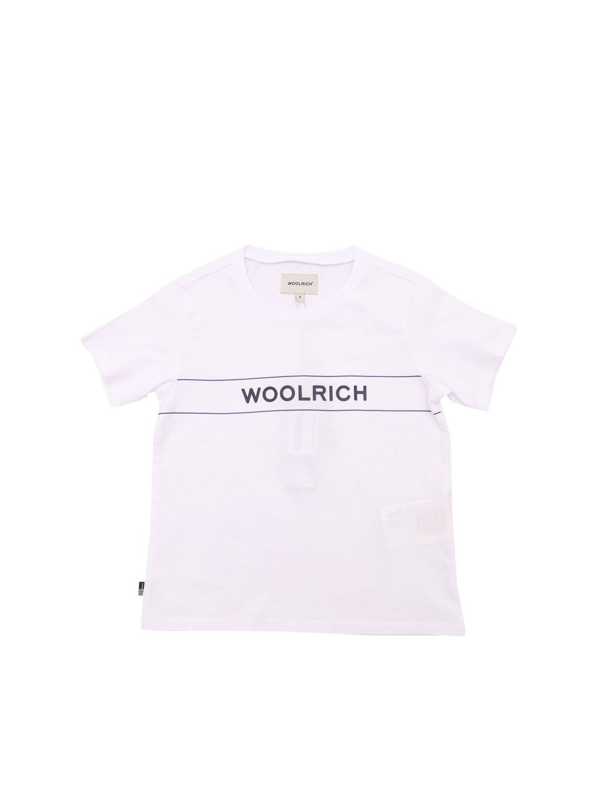 Woolrich Cottons WOOLRICH T-SHIRT IN WHITE