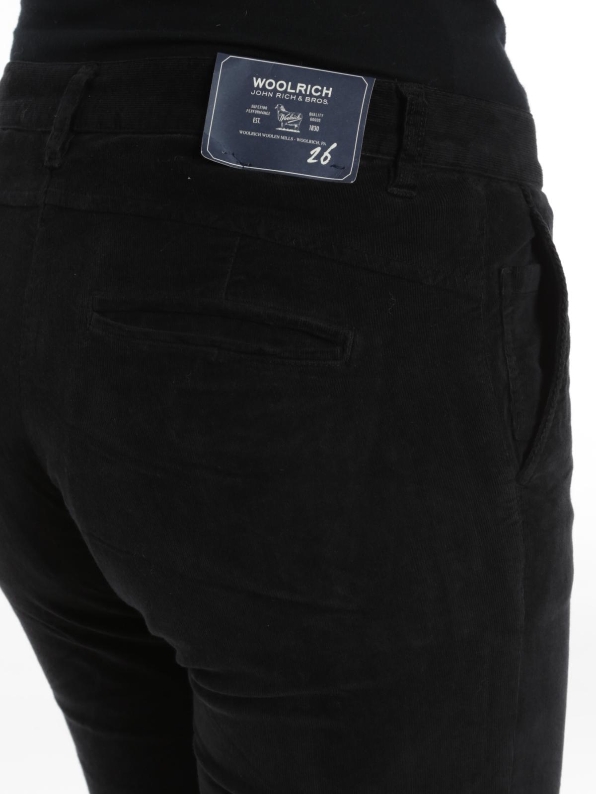 A Pantaloni Woolrich Velluto In Microcostine Casual 68qnUw
