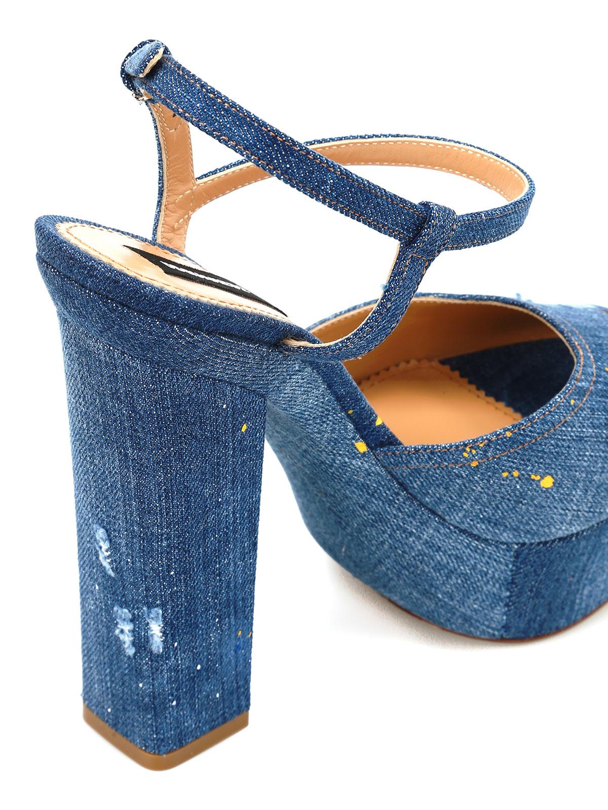 Sandales En Denim Dsquared2 - Bleu zjCKxRPdBs