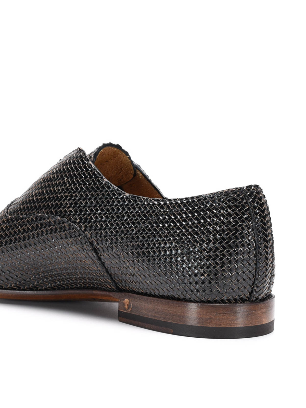 woven leather shoes by raparo classic shoes ikrix