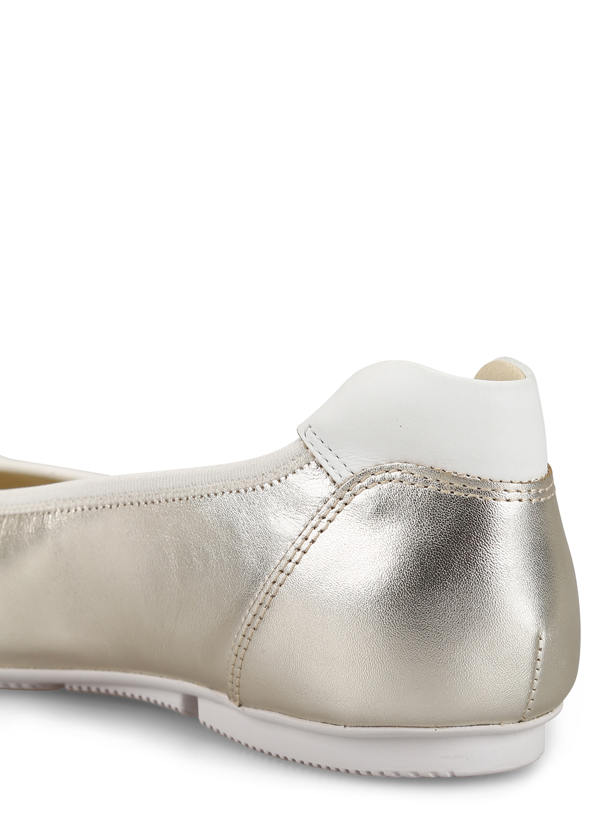 82ecde7eb0935 Hogan - Ballerine Wrap-H144 in pelle oro pallido - ballerine ...