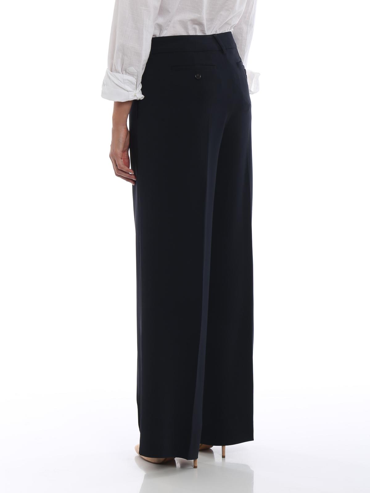 04eb3e71def47 Max Mara - Pantaloni palazzo Xiria in cady blu - pantaloni casual ...