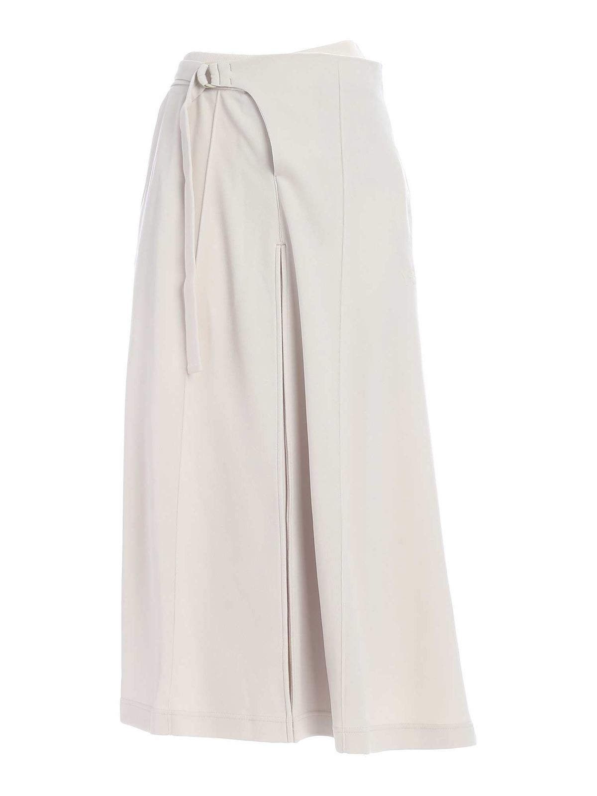 Y-3 CLASSIC TAILORED TRACK SKIRT IN ECRU COLOR