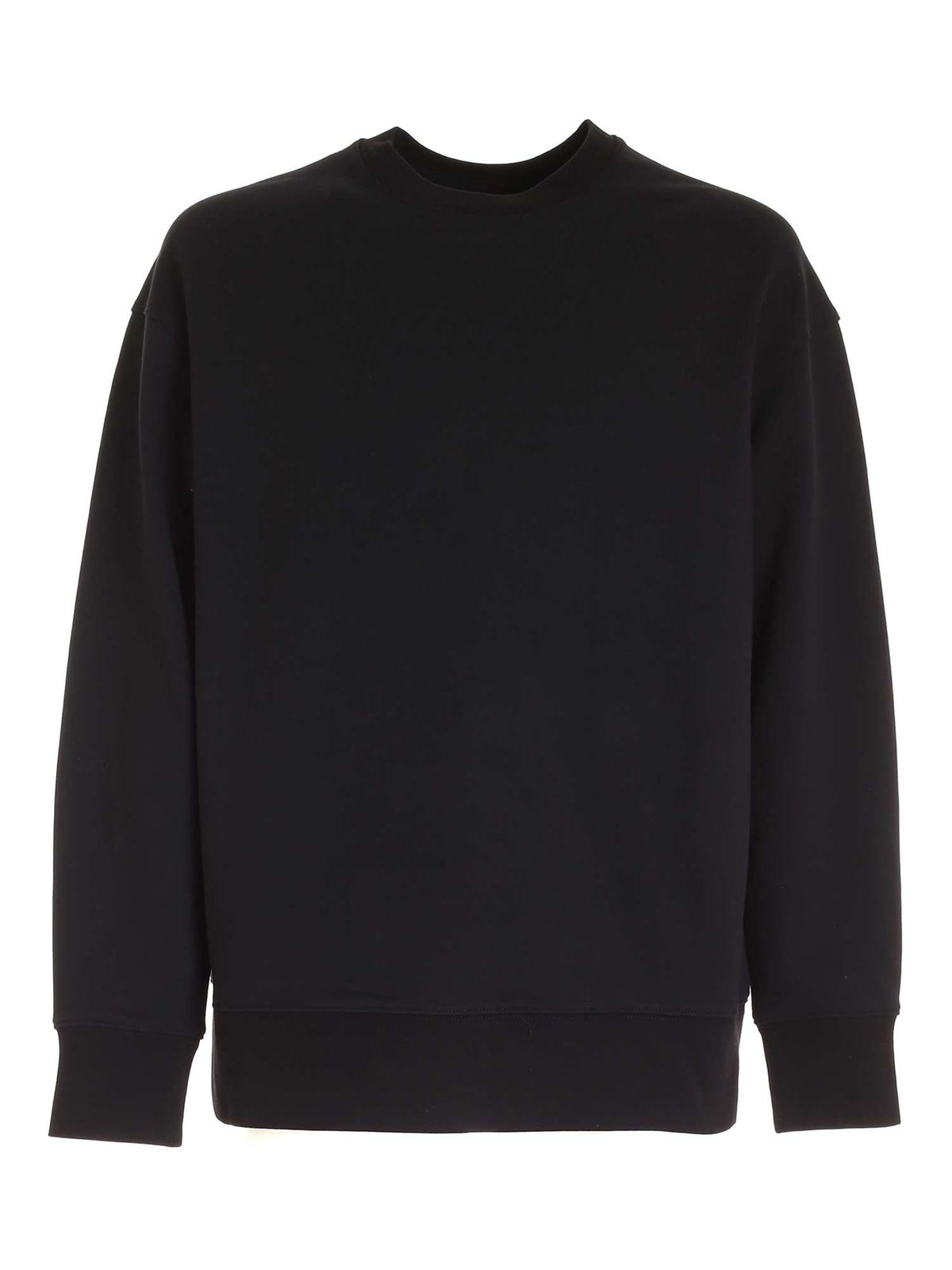 Y-3 LOGO PATCH SWEATSHIRT IN BLACK
