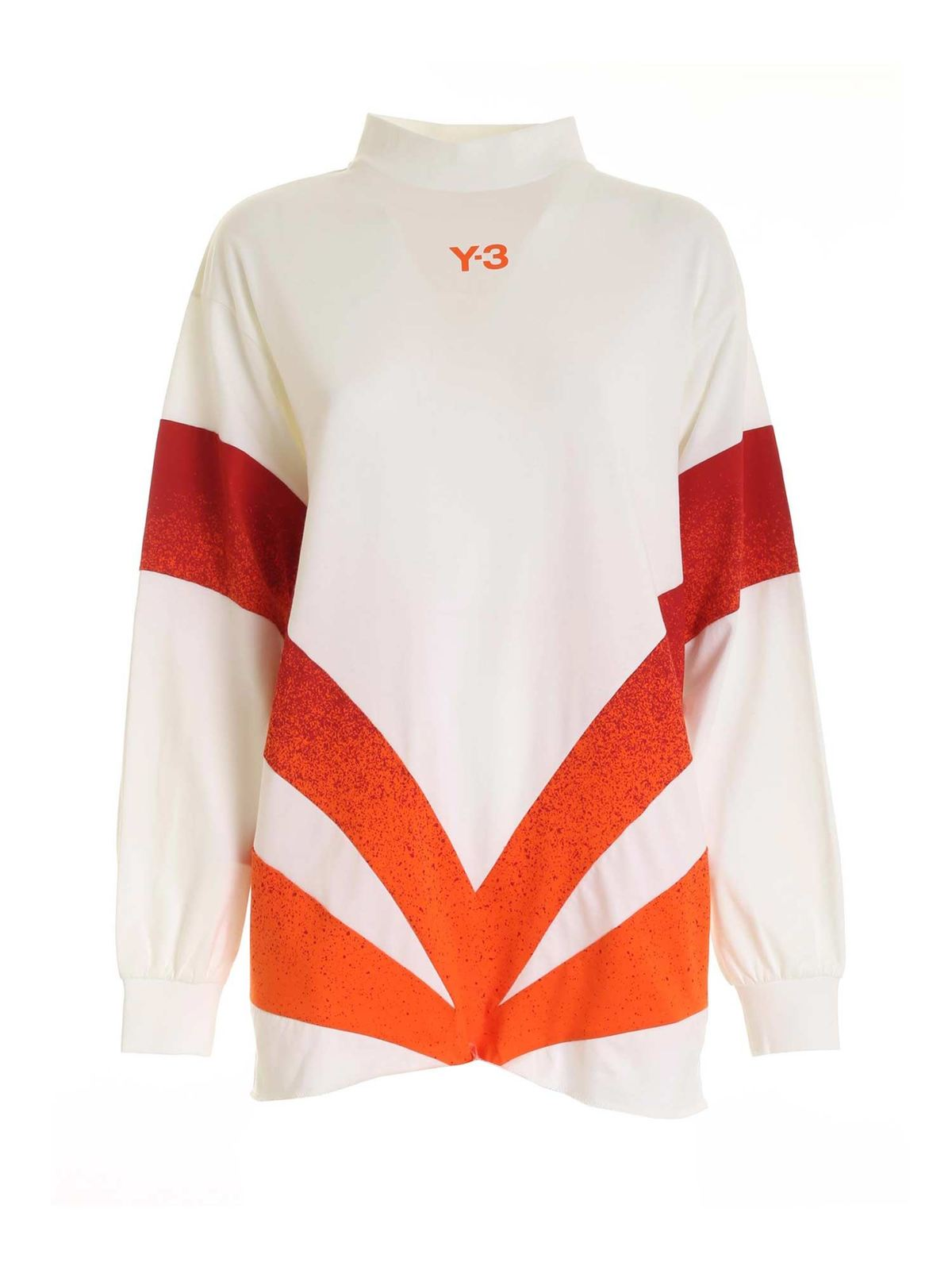 Y-3 CH2 LONG-SLEEVES T-SHIRT IN CREAM COLOR