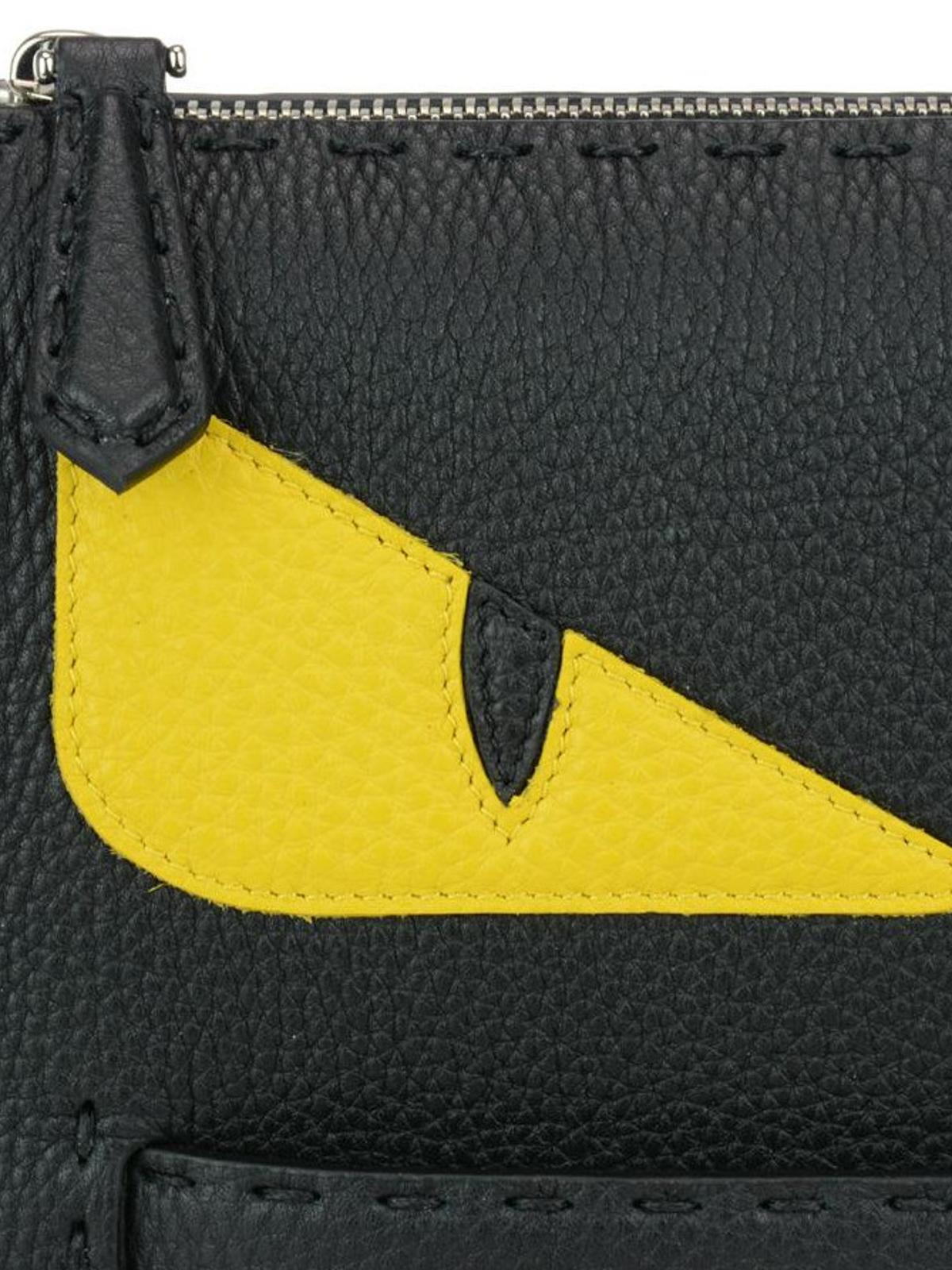 ... spain yellow bag bugs eyes clutch shop online fendi c51ba 20f43 8dda01d17ef09
