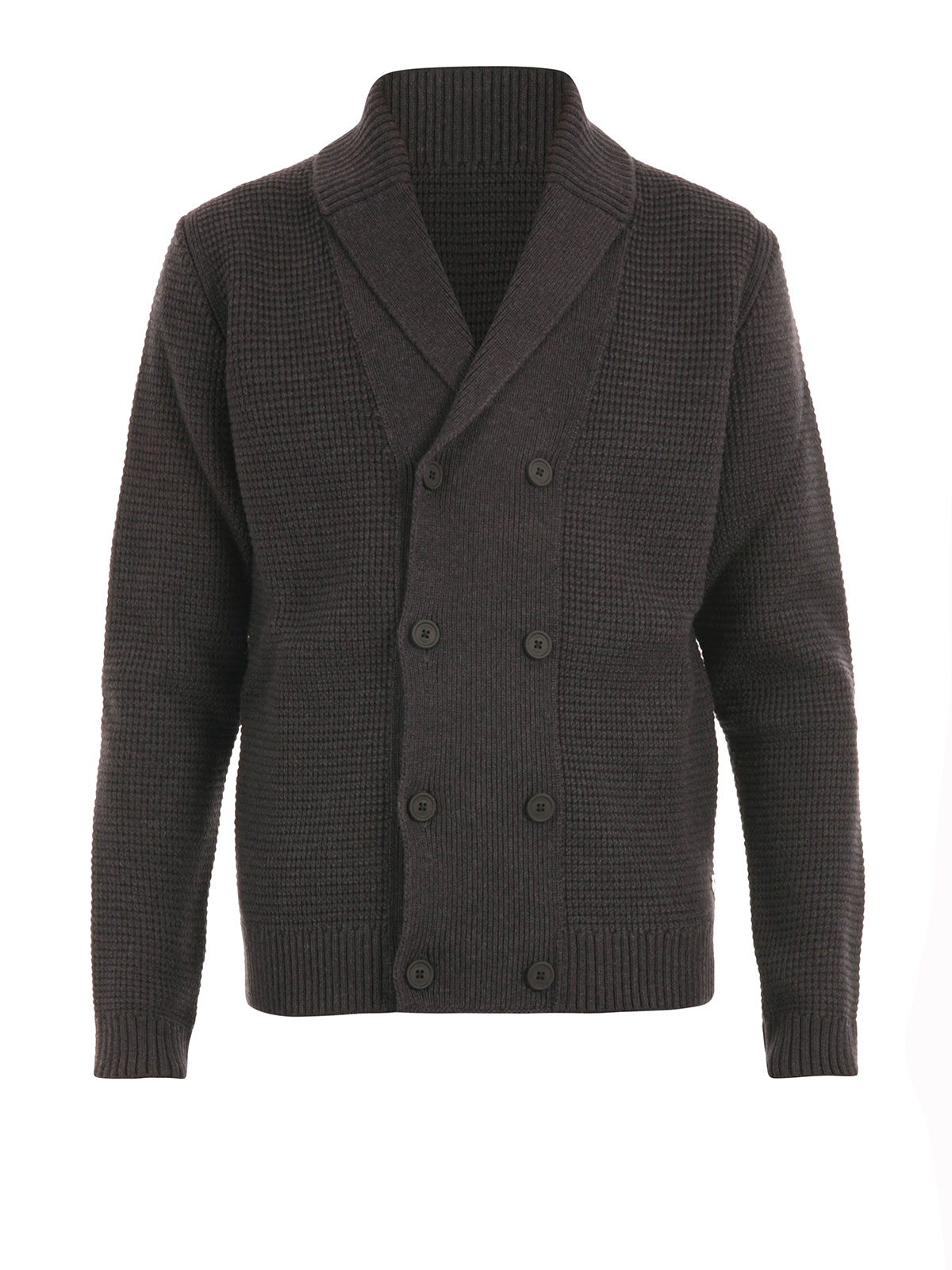 Z Zegna Double Breasted Wool Cardigan Cardigans