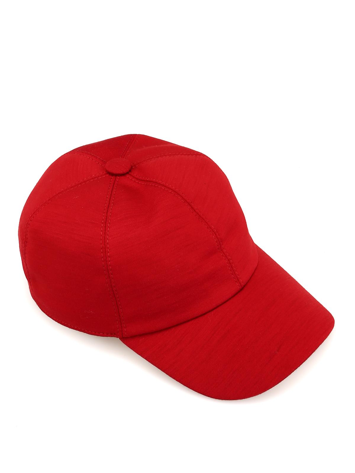 9b59e1eb12e Z Zegna - Cappellino da baseball in techmerino rosso - cappelli ...