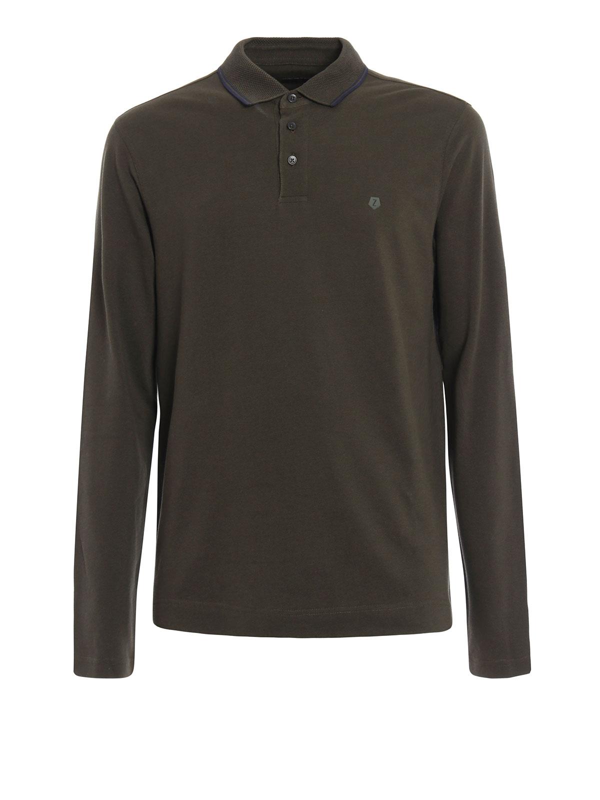 Long sleeves polo shirt by z zegna polo shirts ikrix for Zegna polo shirts sale