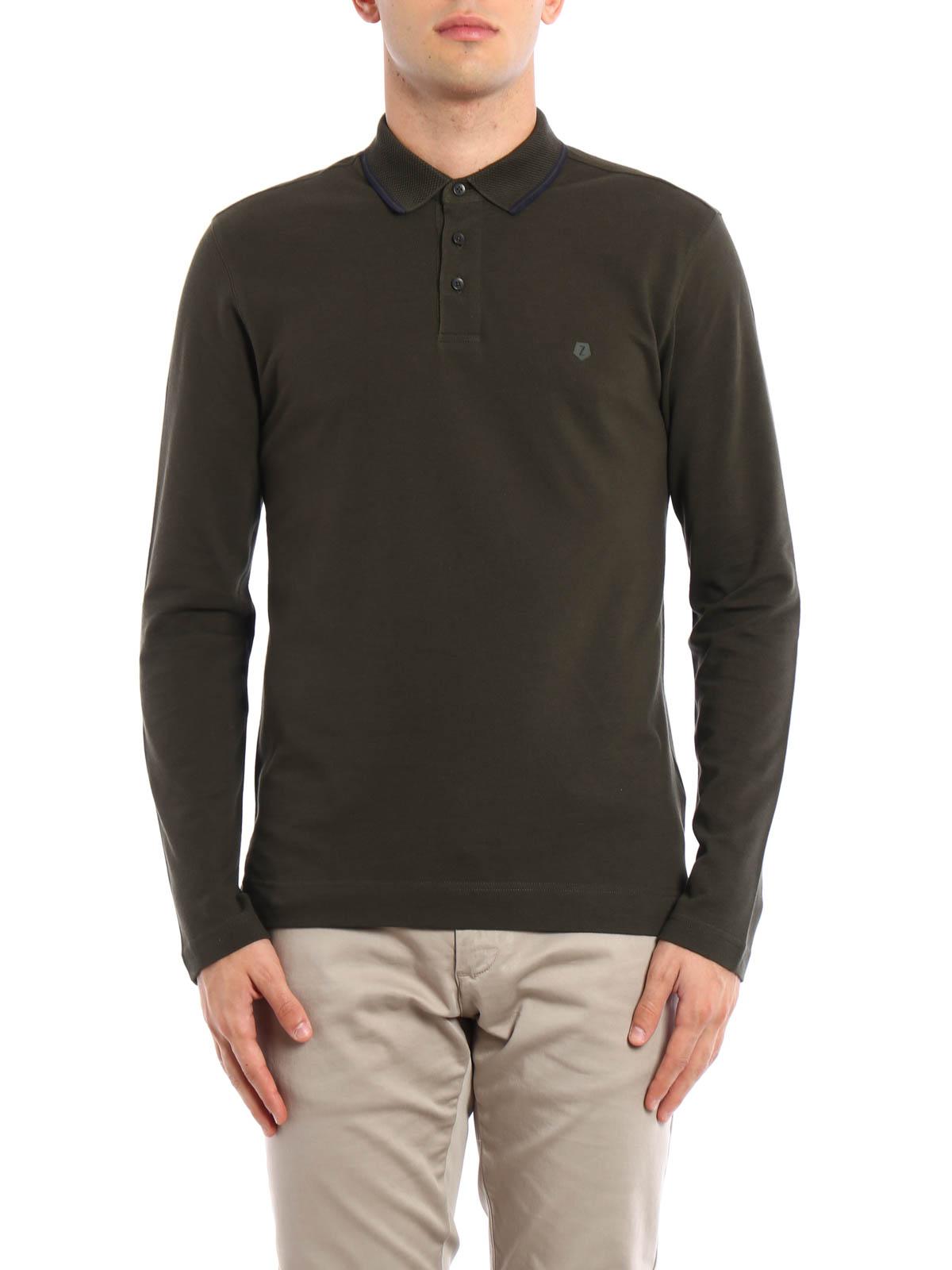Long sleeves polo shirt by z zegna polo shirts shop for Zegna polo shirts sale