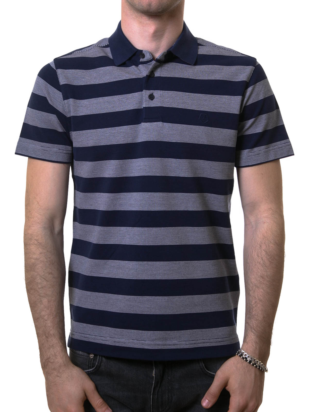 Striped cotton polo shirt by z zegna polo shirts ikrix for Zegna polo shirts sale