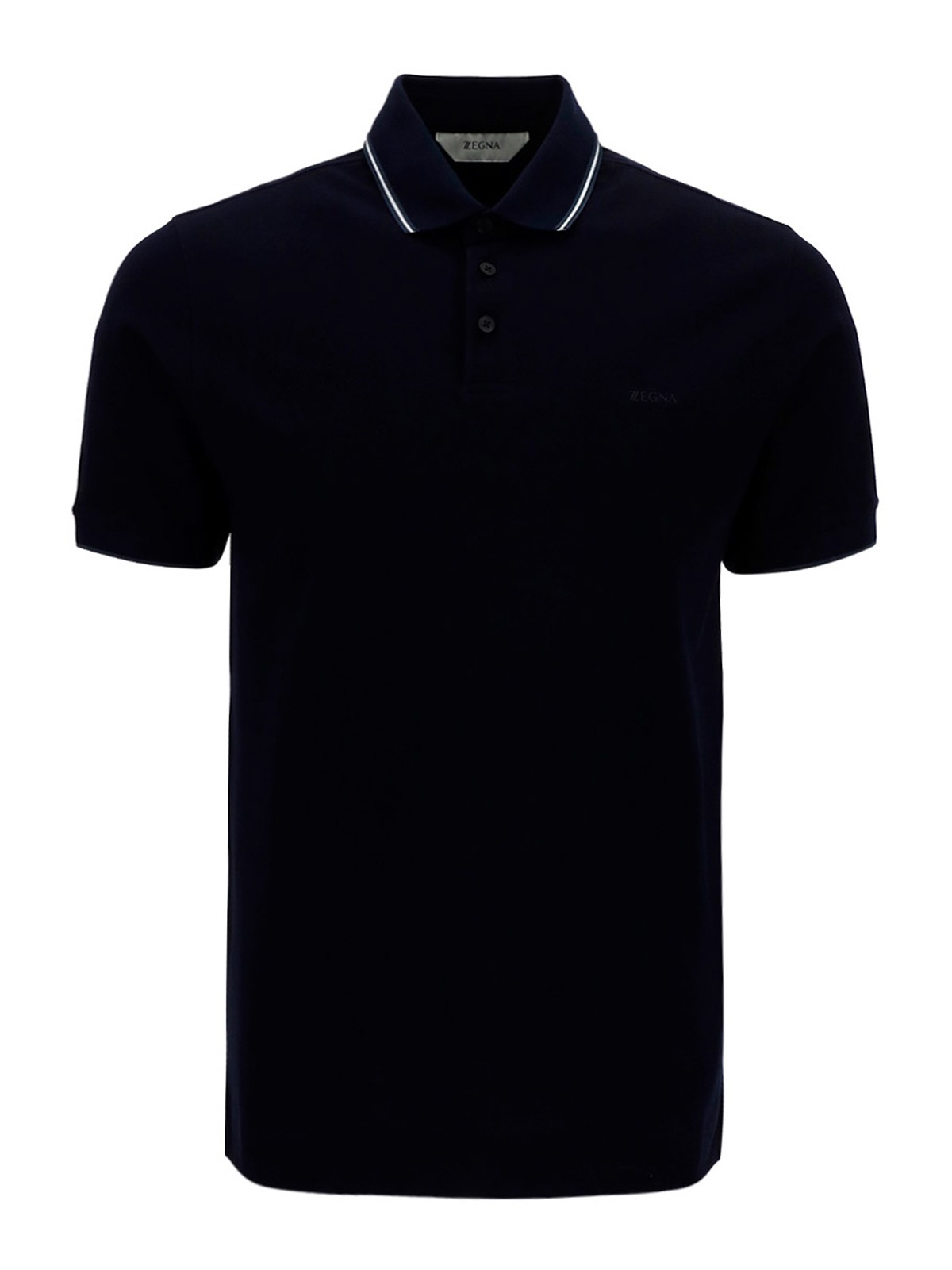 Z Zegna RUBBER LOGO COTTON POLO