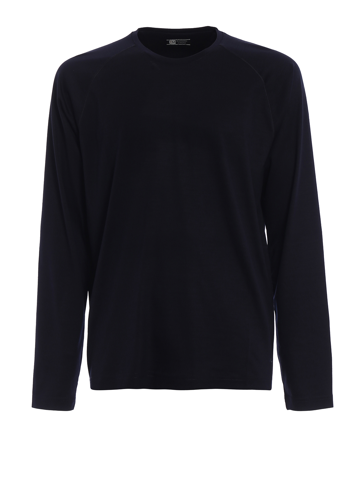 Z Zegna - Wool jersey long sleeved T-shirt - t-shirts - V8390 ZZT654 B09 8443749be
