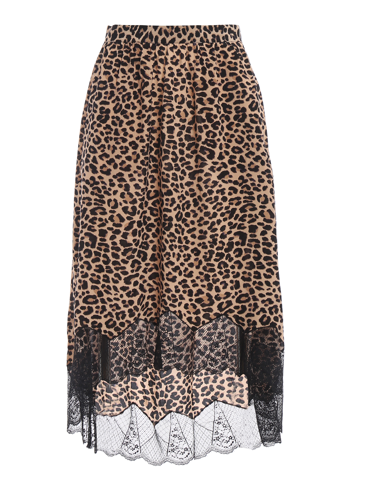 ZADIG VOLTAIRE  Knee length skirts   Midi - Joslin Print Leo asymmetric  skirt e11737844