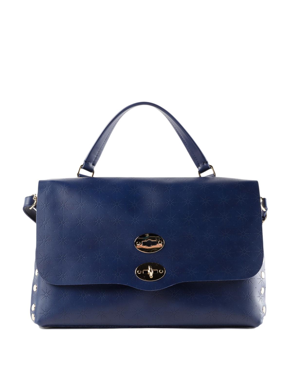 Zanellato Blue Astro Postina medium bag YLJcQ