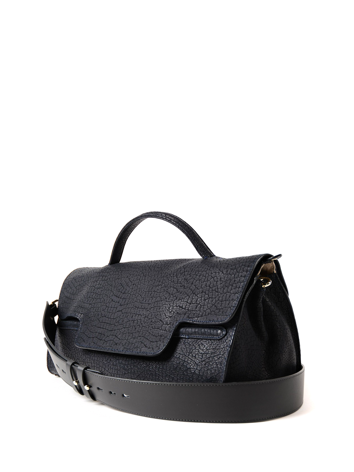 Zanellato Nina-Desert medium blue handbag Qr6aF
