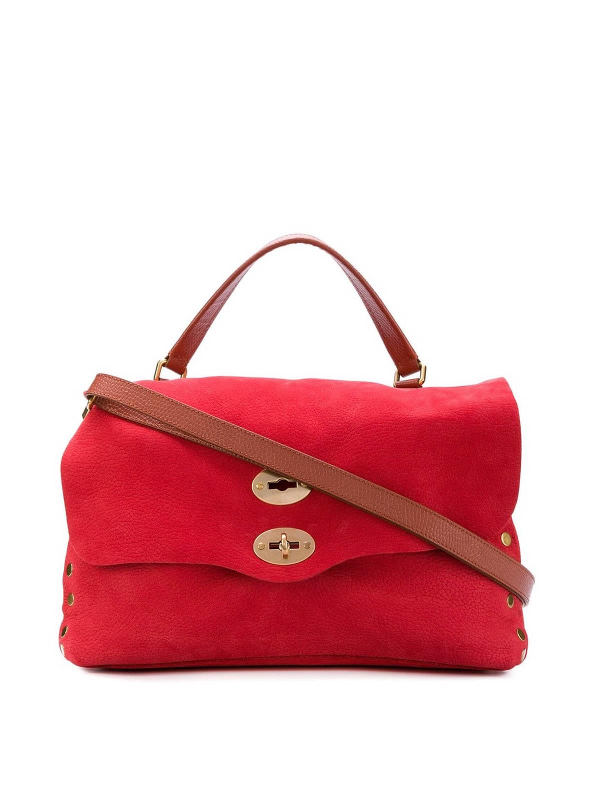 Zanellato Postina M Jones Nubuck Bag In Red