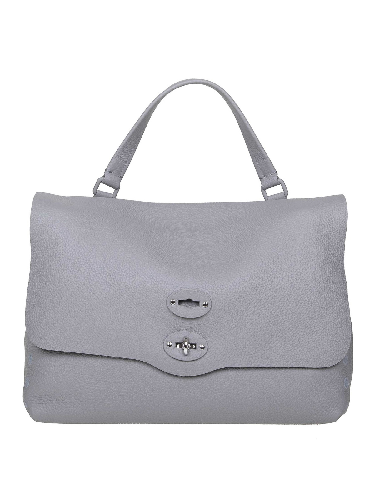 Zanellato Postina M Pura Grey Leather Bag